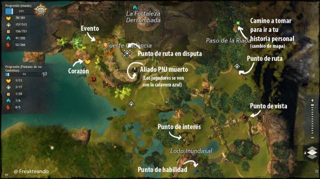 Guía GW2: mapa