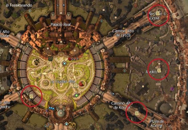 El corredor de la reina: mapa celebridad de Kryta